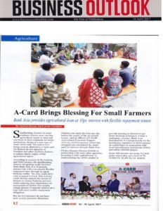 Business Outlook Articale on A-Card